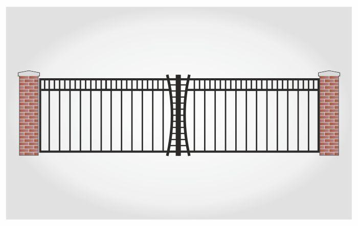 Brama dwuskrzydłowa Bogusz