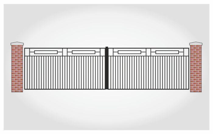 Brama dwuskrzydłowa Eryk
