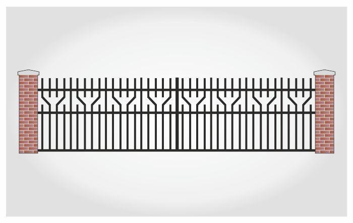 Brama dwuskrzydłowa Kacper