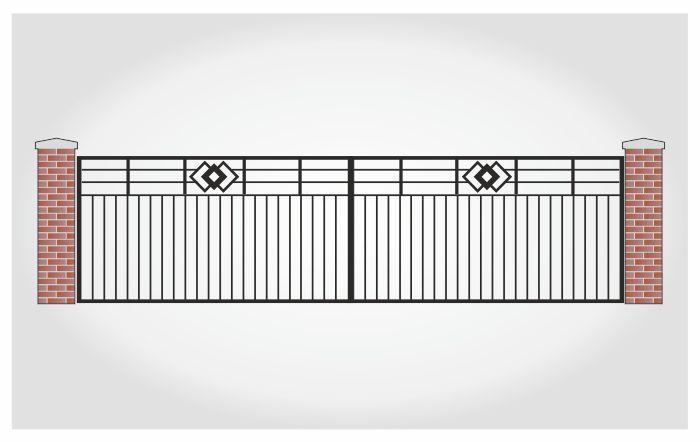 Brama dwuskrzydłowa Max