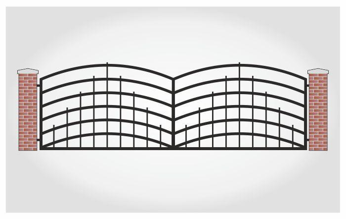 Brama dwuskrzydłowa Oliwer
