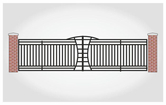 Brama dwuskrzydłowa Ralf