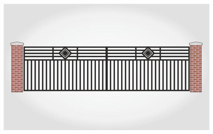 Brama dwuskrzydłowa Walter