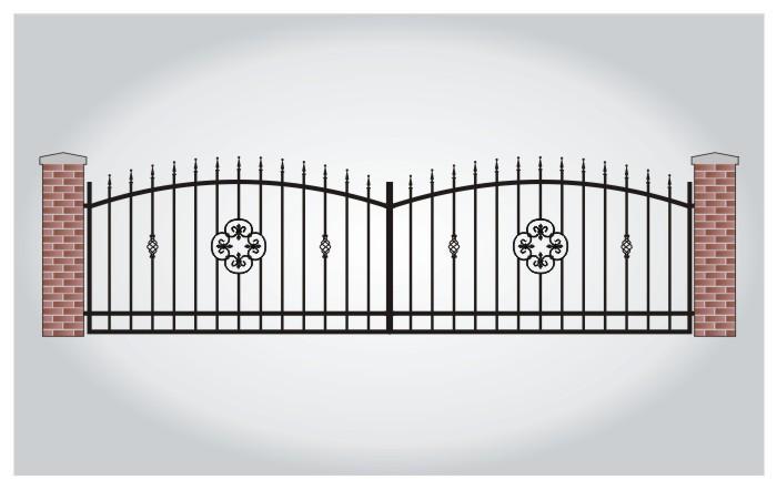 Brama dwuskrzydłowa Aksel