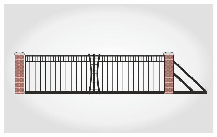 Brama przesuwna Bogusz