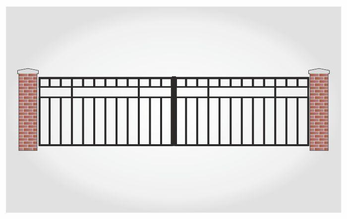 Brama dwuskrzydłowa Feliks