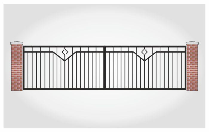 Brama dwuskrzydłowa Kornel