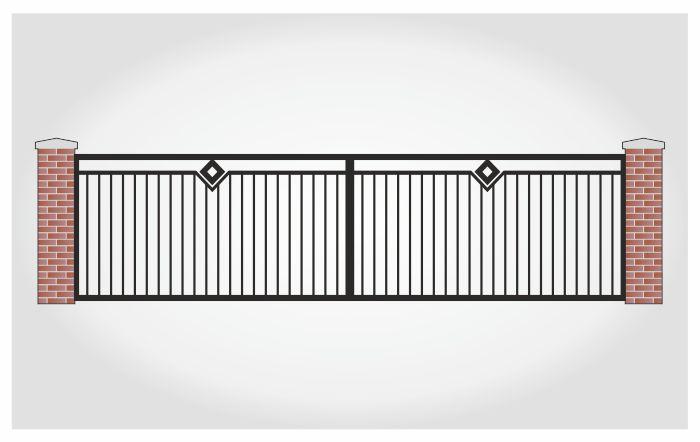 Brama dwuskrzydłowa Leonard